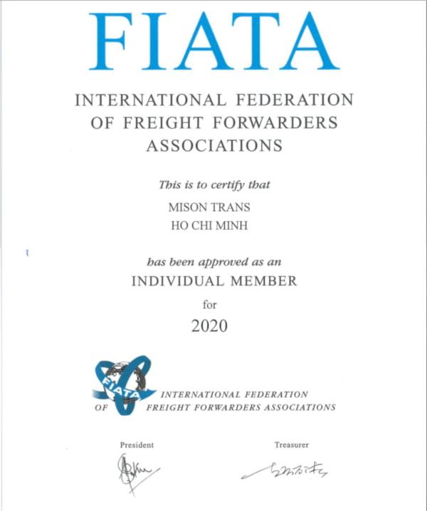 Fiata Certification - Mison Trans 2020