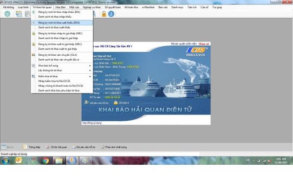 Đăng ký mới tờ khai xuất khẩu (EDA)