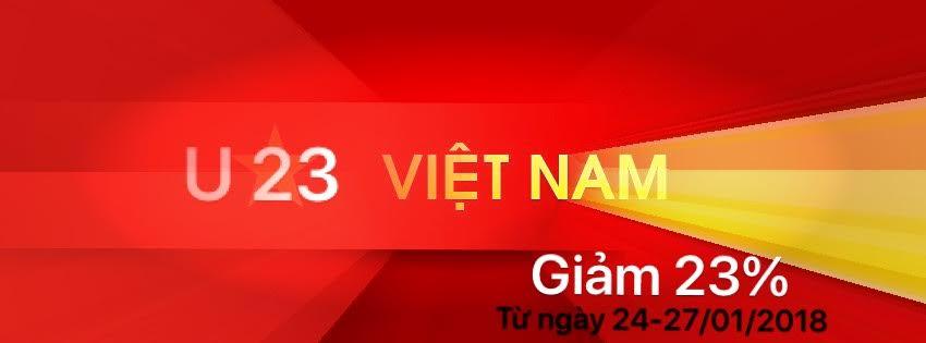 Mison Trans giảm 23% mừng u23 Việt Nam chiến thắng