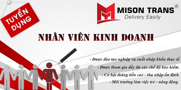Mison Trans tuyển nhân viên kinh doanh Logistics - xuất nhập khẩu