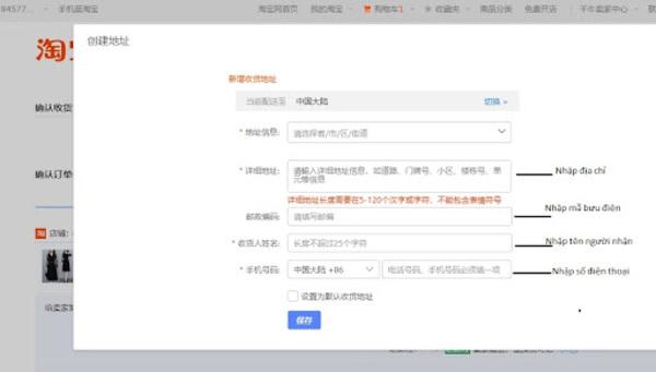 đặt hàng taobao như thế nào